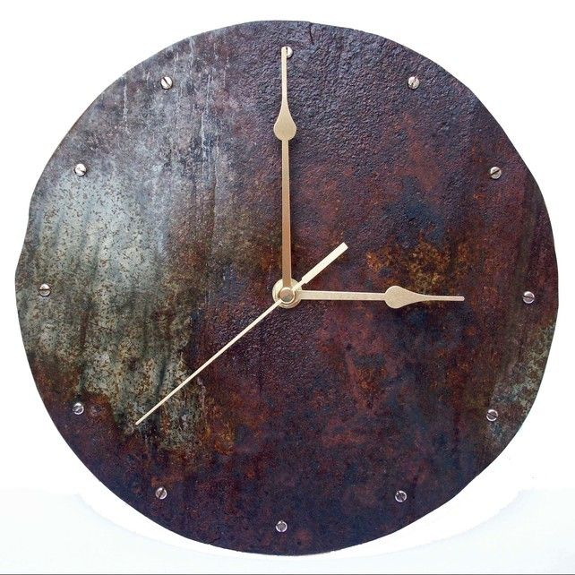 Rusty Tin Bath Wall Clock In 2019 Tin Bath Clock How