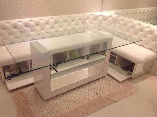 sala de jantar branca