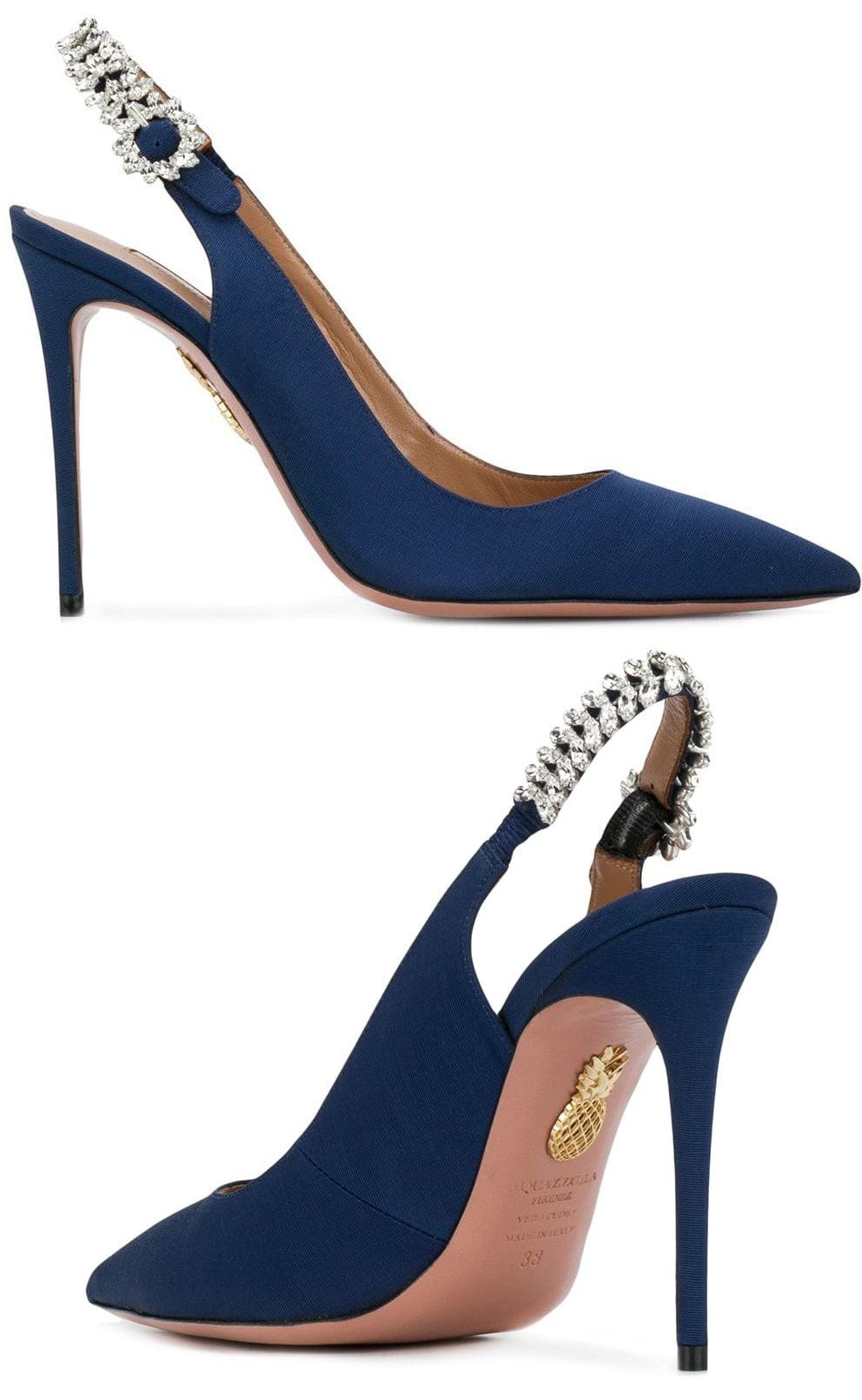 35e21715618 9 6 2018 - 100 Days to Peace Concert - Meghan s Aquazzura  Portrait of Lady   sling pumps in admiral blue (£640)