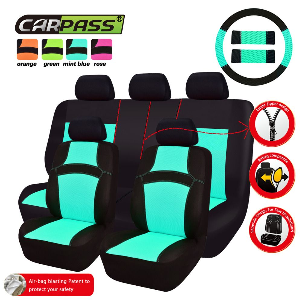 Green Seat Covers Best Car Mint Blue Fit