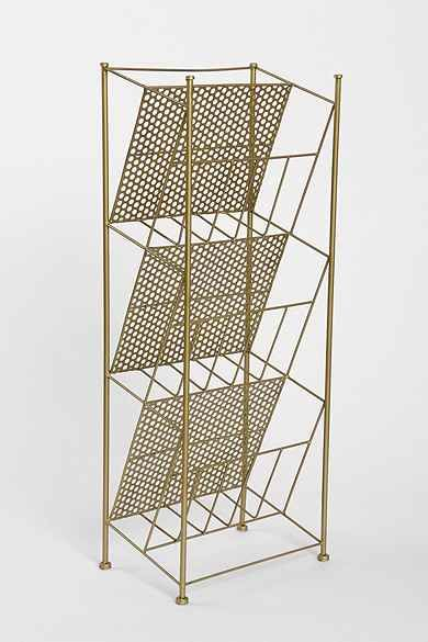 Up To Off Corner Store Vinyl Storage Rack   Gold One Size At Urban  Outfitters