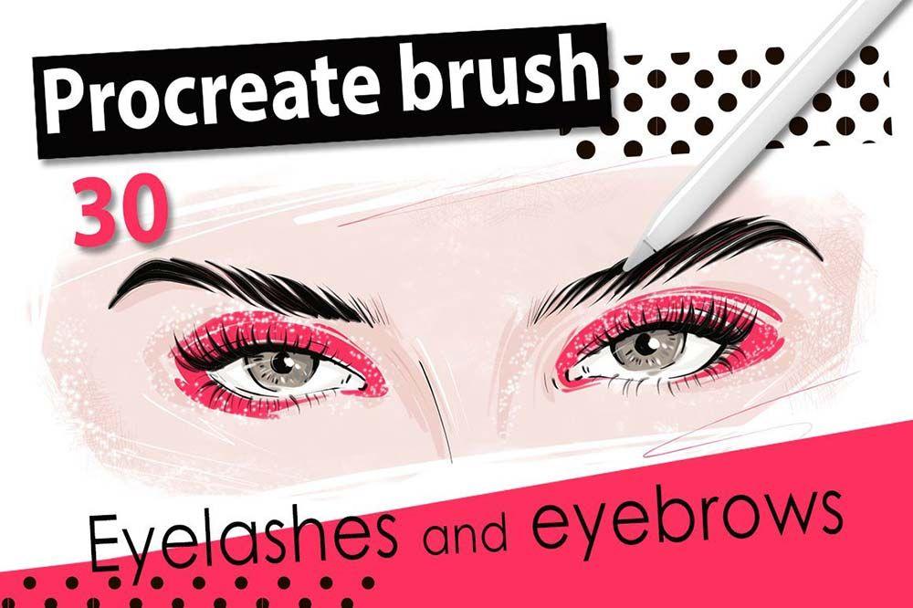 Procreate brush eyelashes, eyebrows in 2020 Procreate