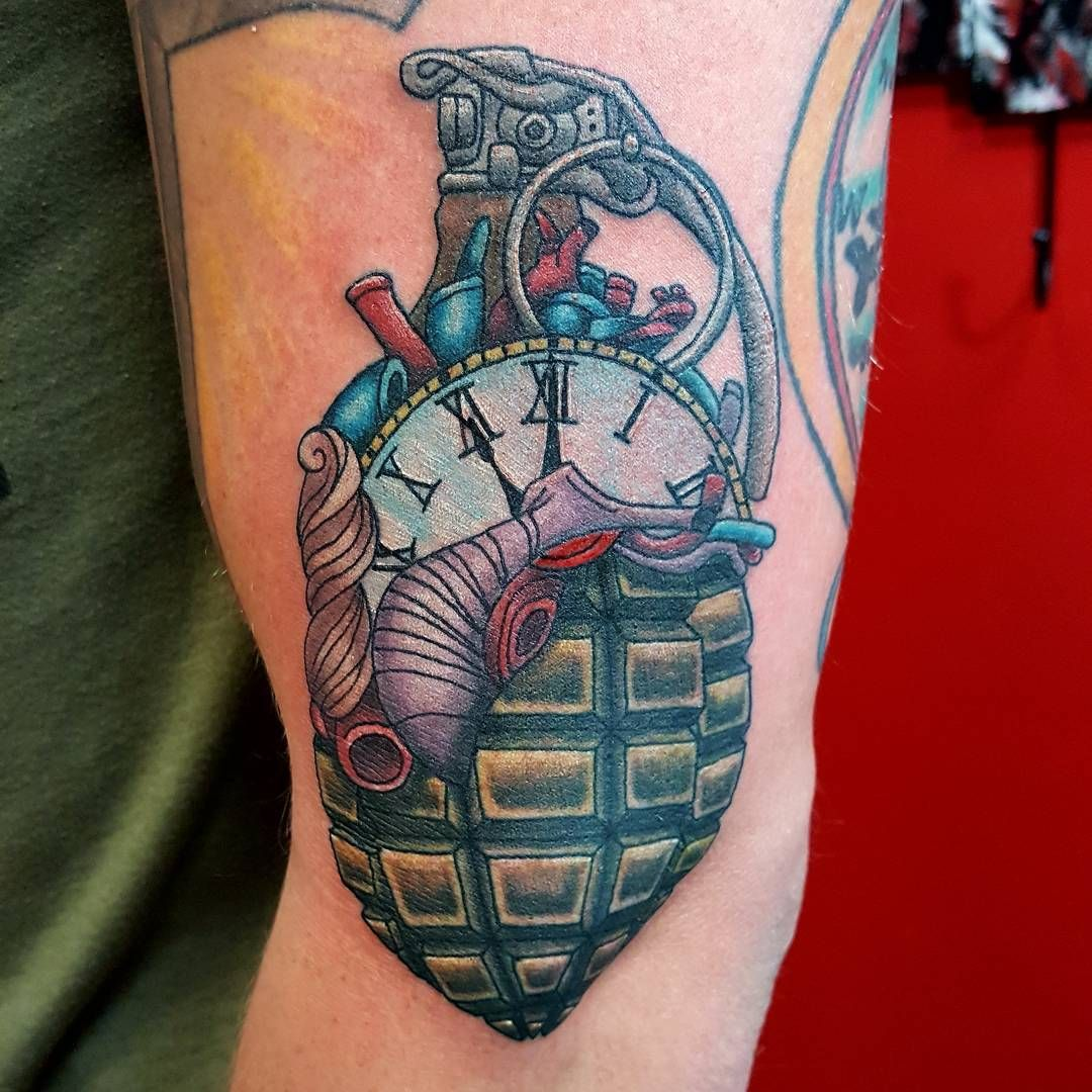 picture 50 Grenade Tattoo Designs For Men – Explosive Ink Ideas