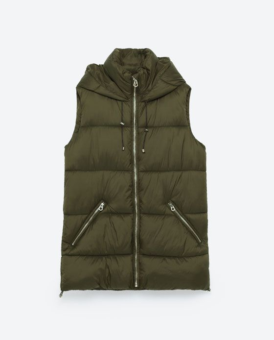 Image 8 of HOODED VEST from Zara