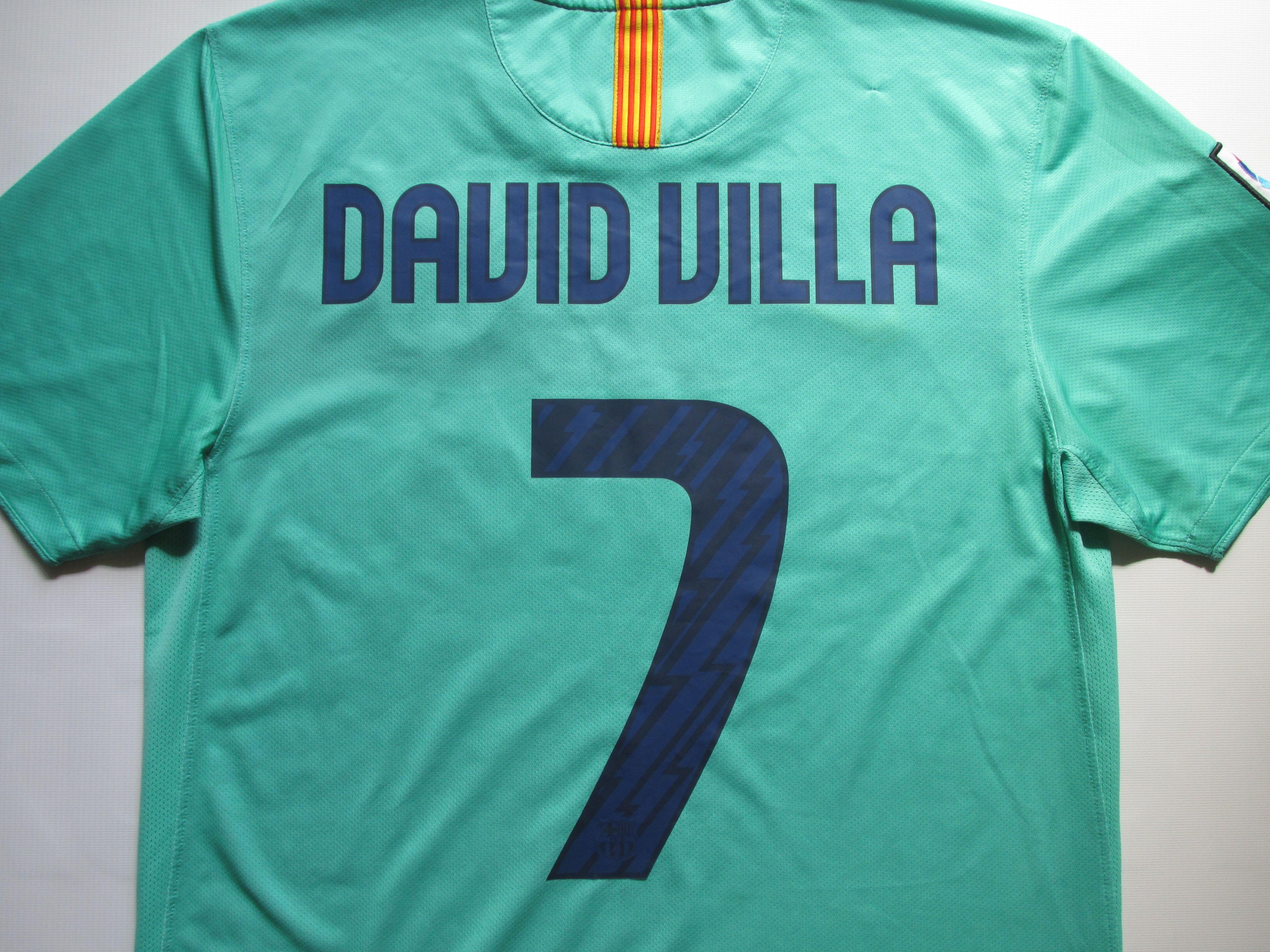 8da1d457af8 Barcelona 2010/2011 away football shirt David Villa #7 by Nike FCBarca Barca  camiseta