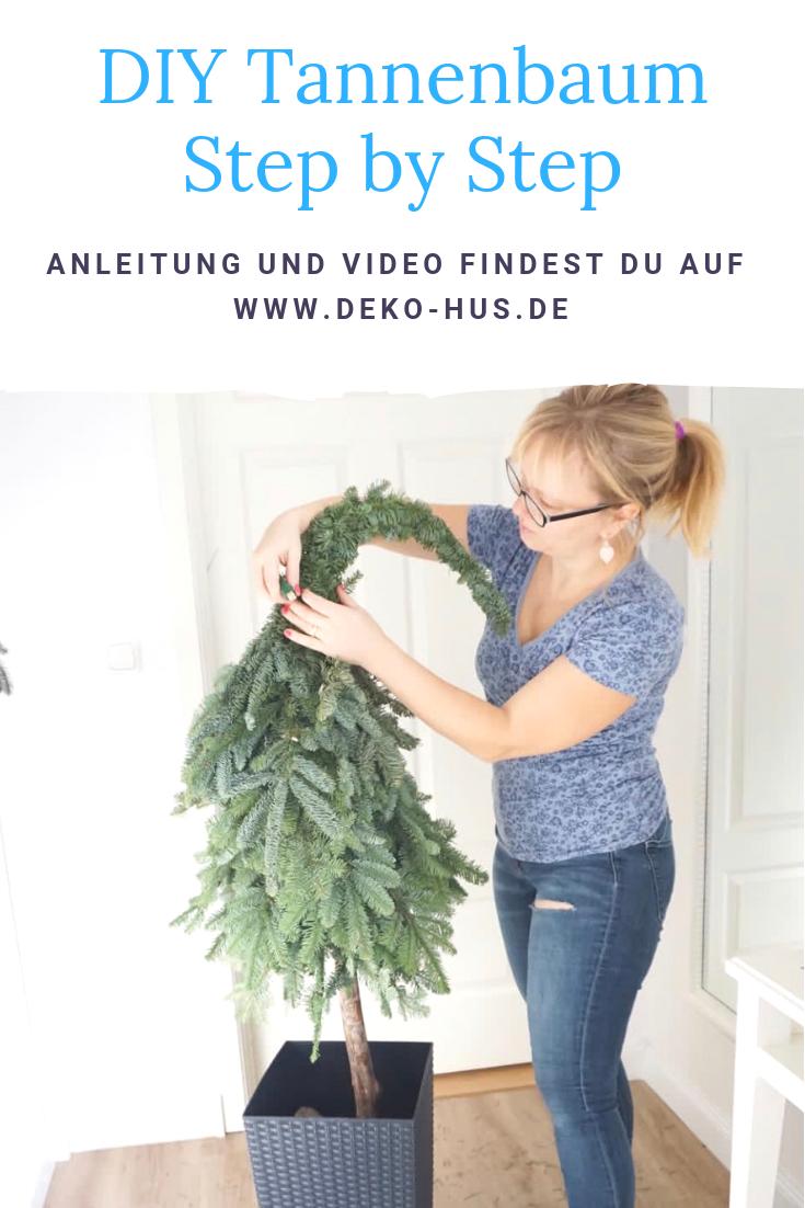 Anleitung Tannenbaum mit Zipfelmütze - Deko-Hus