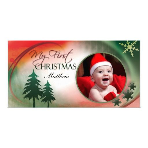My First Christmas Photo Card Template Zazzle Com First Christmas Photos Photo Card Template Holiday Design Card