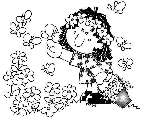 resultado de imagem para primavera para colorir desenhos