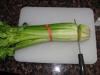 Growing celery from the end of another celery.  It's easy and it works!