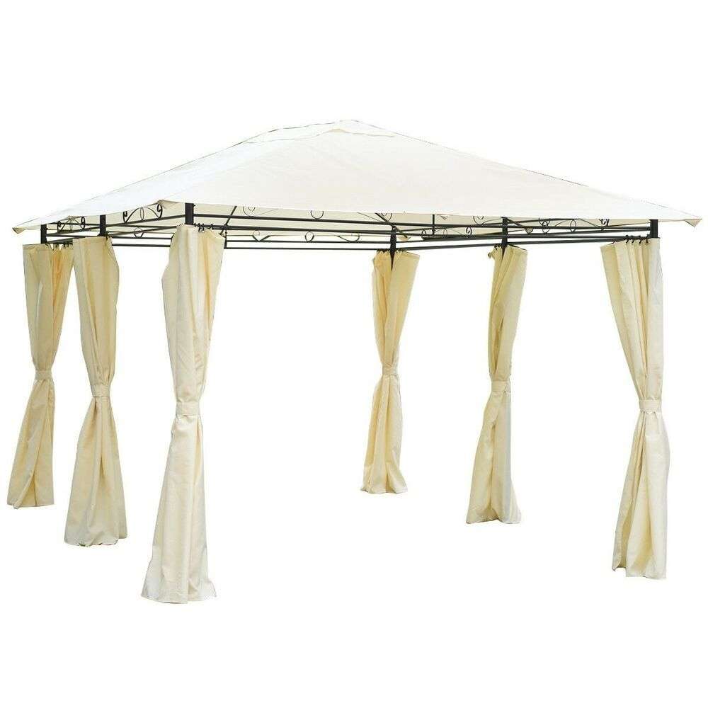 Details About 13 X 10 Gazebo Canopy Shelter Patio Party Tent Outdoor Awning W Side Walls Outdoor Awnings Gazebo Canopy Gazebo