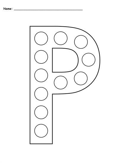 Free Letter P Do-A-Dot Printables - Uppercase & Lowercase