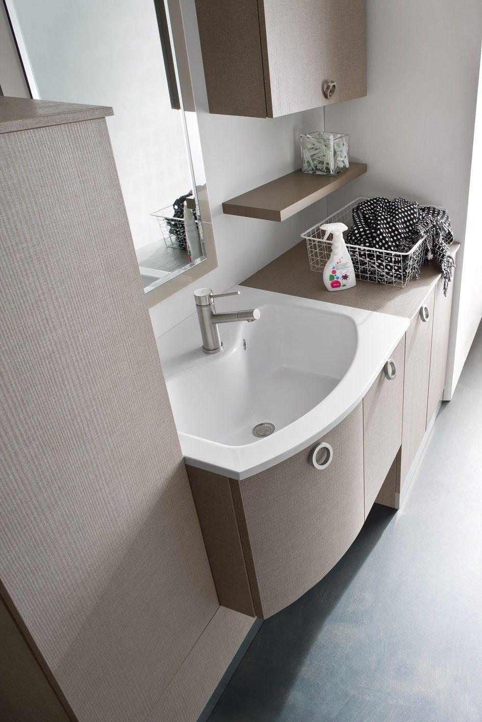 Mobile Lavello E Lavatrice mobile lavanderia per lavatrice ad incasso n42 - atlantic
