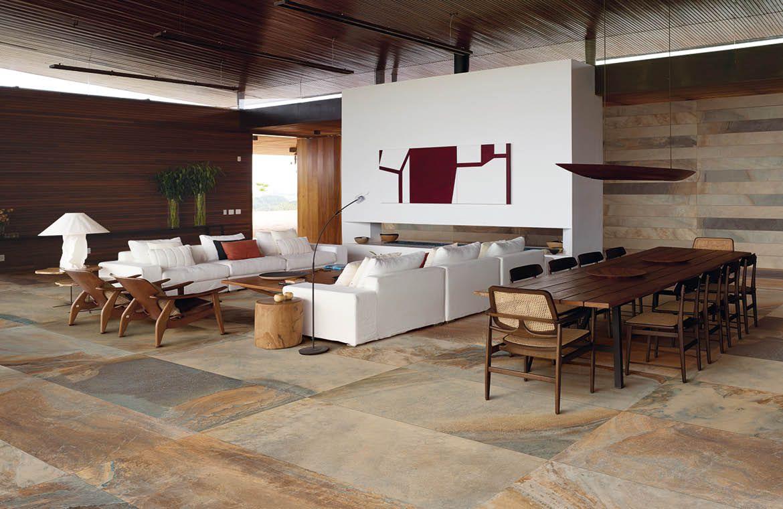 Simply Stunning Large Format Slate Effect Tiles Leistenen Vloer