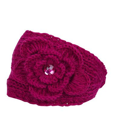 Look at this #zulilyfind! Fuchsia Rhinestone Blossom Head Wrap #zulilyfinds