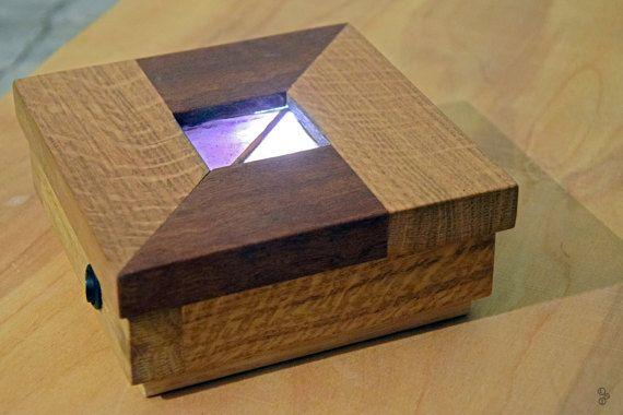 Wall lamp. lampada led applique in legno rovere e by labsenzatempo
