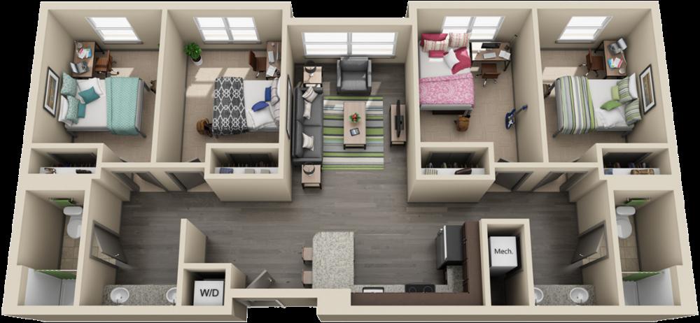 College Apartment Layout Google Search Em 2020 Plantas De Casas Casas