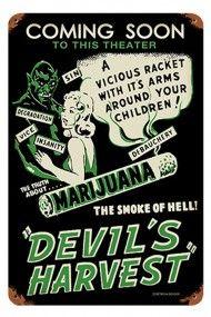 Devil's Harvest Metal Sign