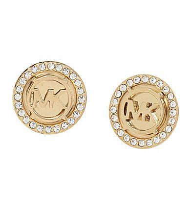 Michael Kors Mk Monogram Stud Earrings Dillards Jewelry
