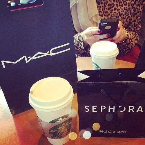 MAC, Sephora, and Starbucks! <3