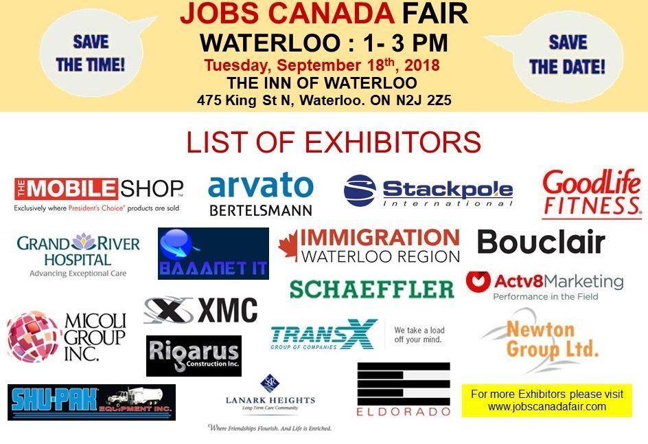 List Of Hiring Companies For Waterloo Job Fair September 18th