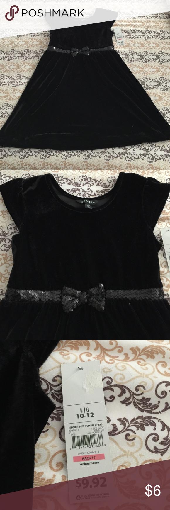 Black Dress For Girl Size 10 12 Size Girls Girls Dresses Black Dress [ 1740 x 580 Pixel ]