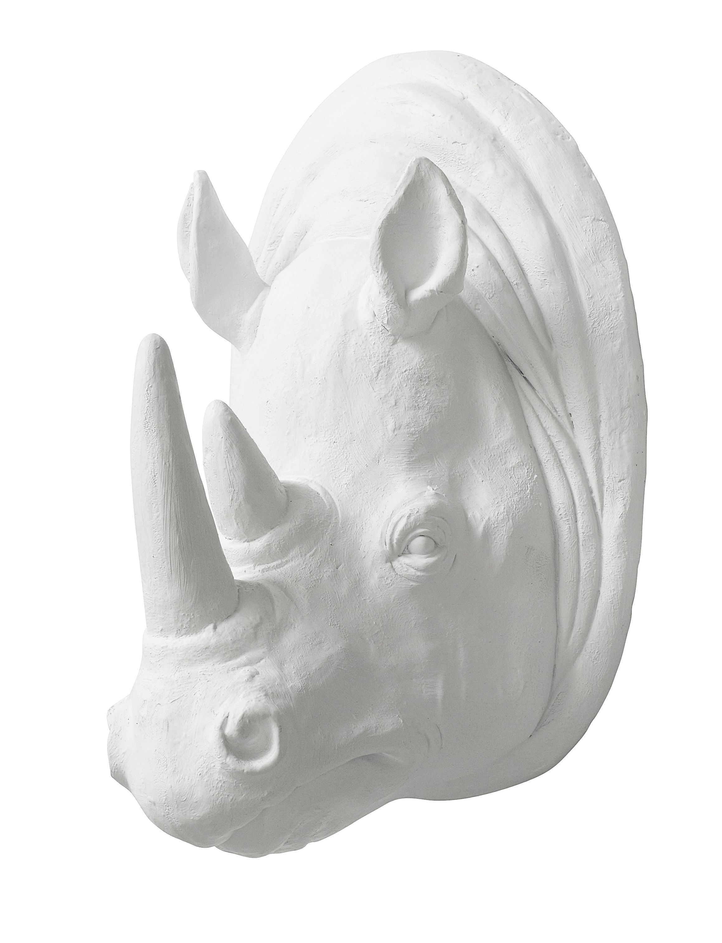 This cool Nordal Rhino wall decoration in white provides an …