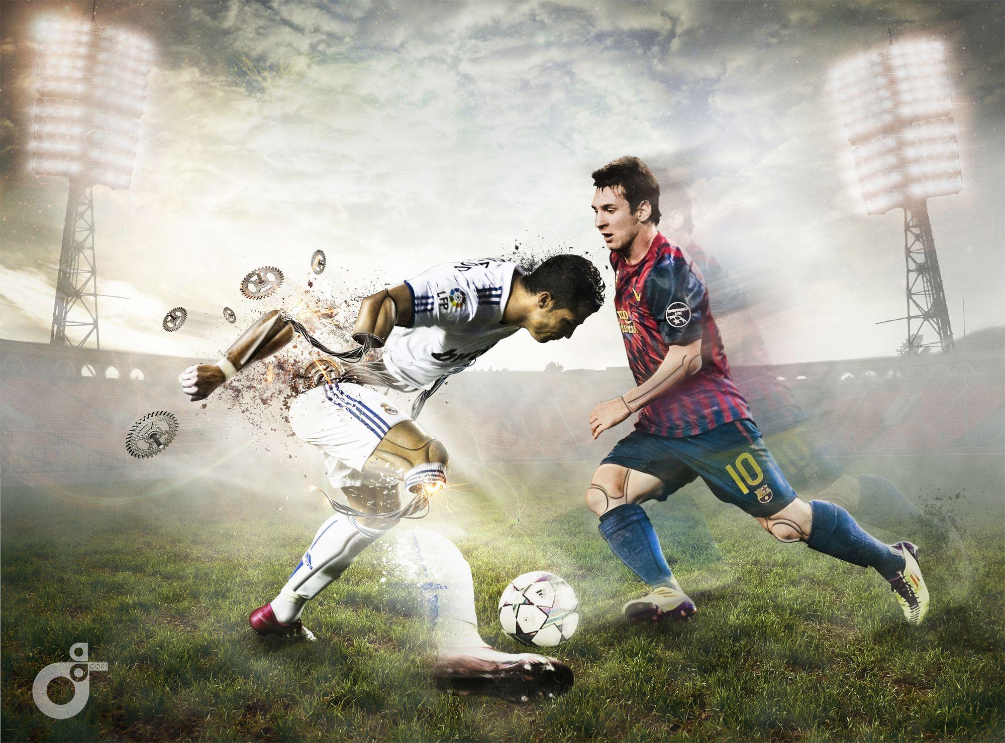 Leo Messi vs Cristiano Ronaldo by eska1303 on deviantART | Messi vs, Messi, Messi  vs ronaldo