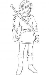 how to draw link from zelda step 11 Jillian the