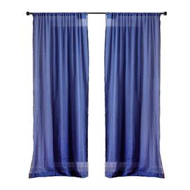 Cotton curtain panel in blue.   Product: Curtain panelConstruction Material: CottonColor: BlueFeatures:  Charming designWill enhance any dcor  Dimensions: 88 H x 44 W