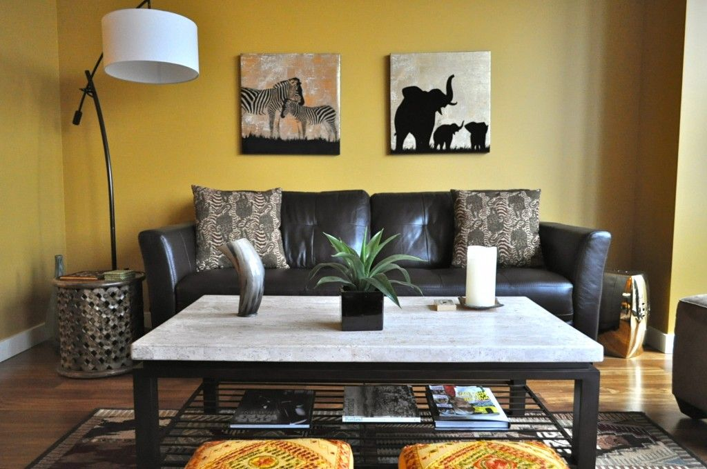 African Style Living Room Design Magnificent African Themed Living Room With Fireplace  African Themed Living Design Ideas