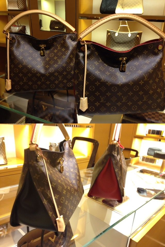 a181fad87220 Louis Vuitton GAIA. BRAND NEW and it s STUNNING! Kind of like an update on  the Artsy. Love the color side insert (black or cherry).