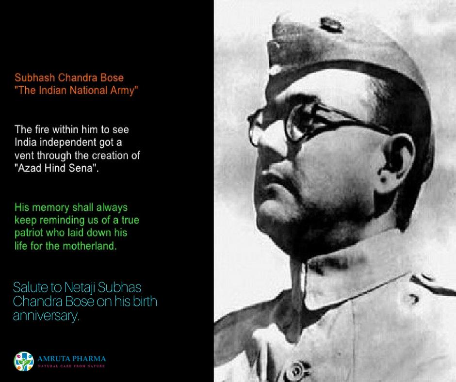 Remembering Netaji Subhas Chandra Bose On His Birth Anniversary Salute To The Hero Jaihind Amruta Subhas Chandra Bose Freedom Fighters Chandra