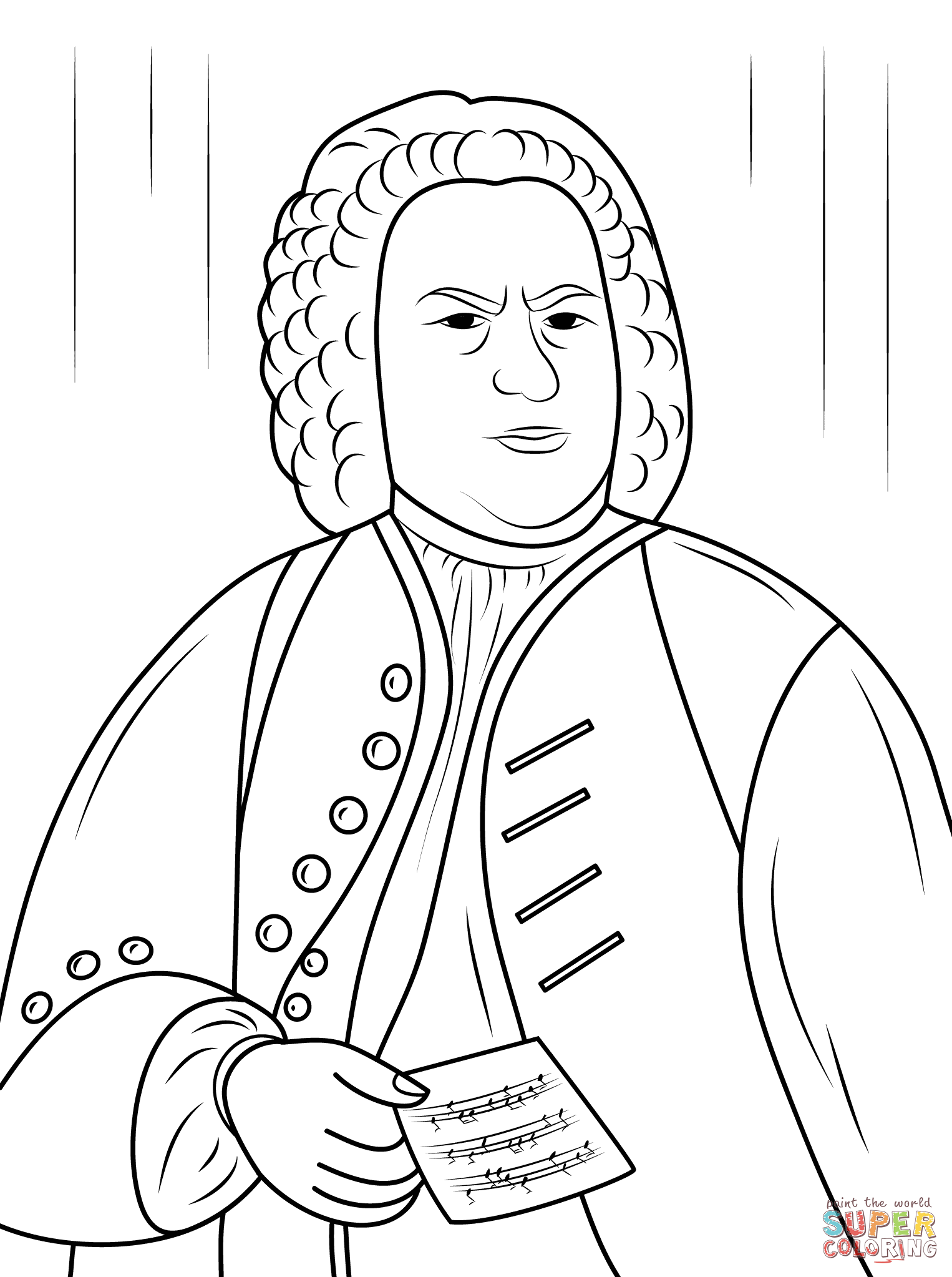 Johann Sebastian Bach Coloring Pages 1 526 2 046