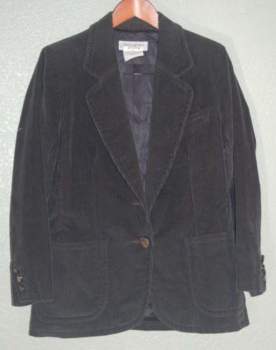 278690b495f Yves Saint Laurent Blazer Corduroy YSL Rive Gauche Cotton 2 Button | eBay