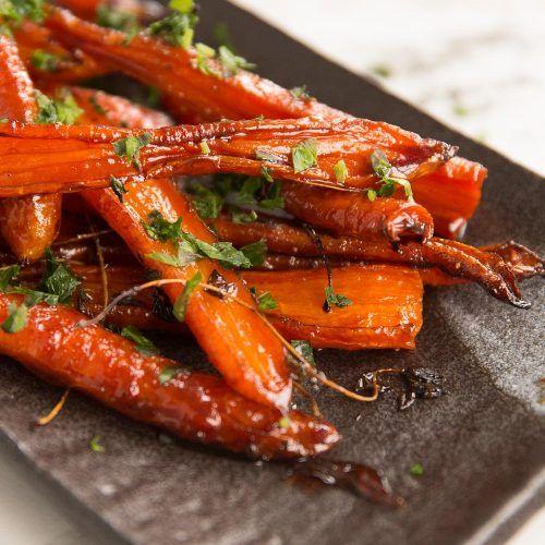 Honey Balsamic Roasted Carrots   Don't Go Bacon My