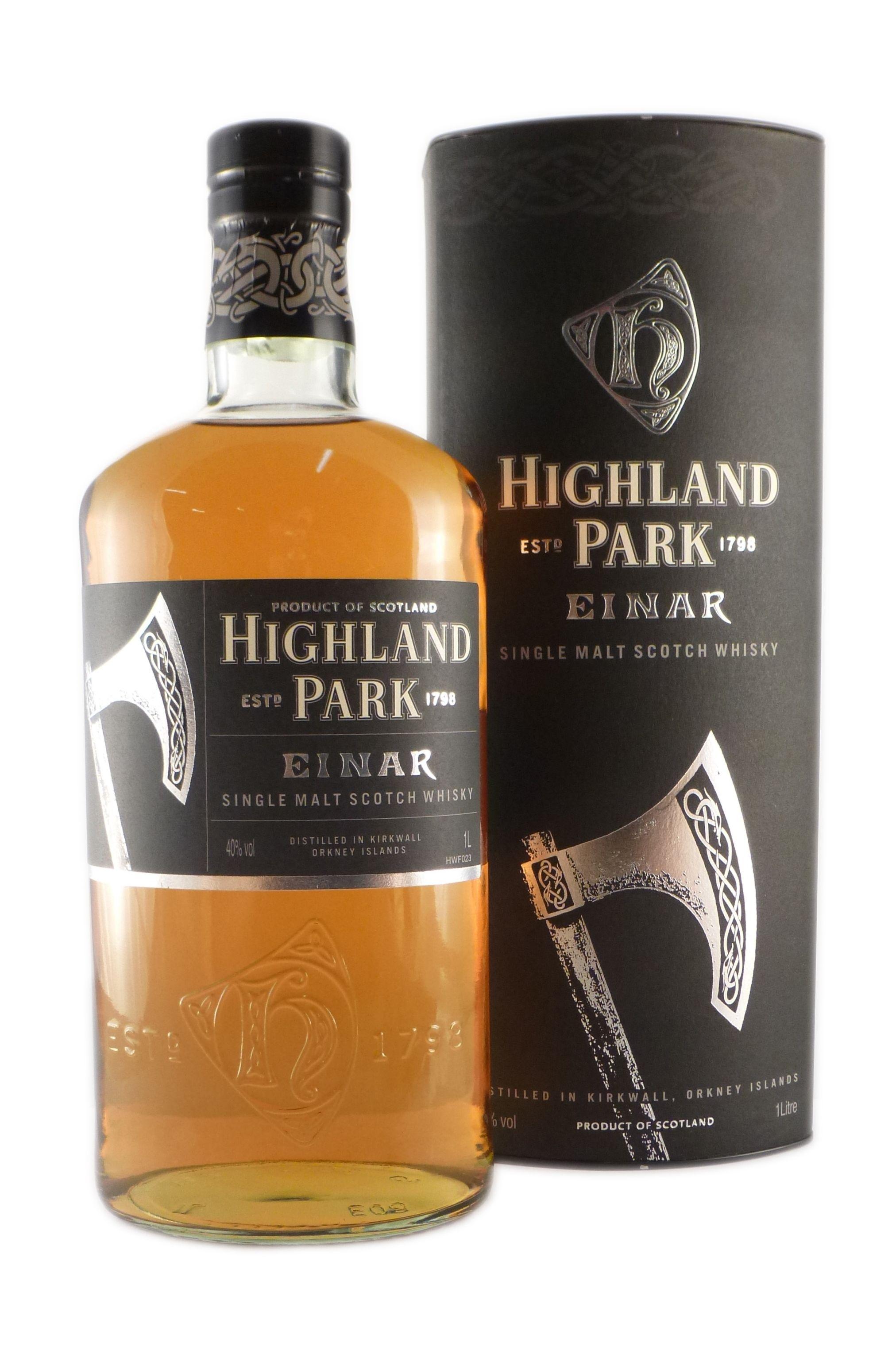 Highland Park Einar ist ein Orkney Malt Whisky. Seinen Namen verdankt die Spirituose dem Wikinger Einar. Er war im Jahre 1014 der Graf von Orkney und galt als sehr harter Mann, der seine Gegner unerbittlich niederstreckte. Seine Waffe...
