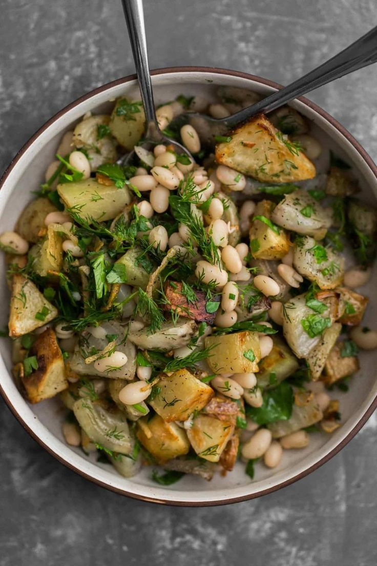 Potato Beet Salad With White Beans