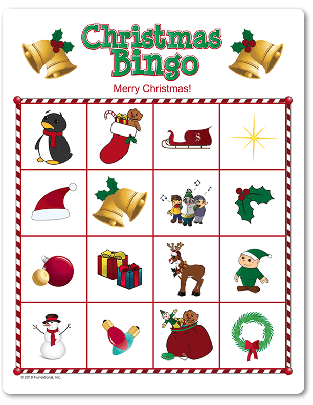 Printable Christmas Picture Bingo Funsational Com Christmas