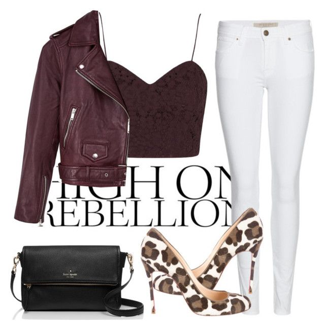 """""""HIGH ON REBELLION"""" by samantha-leopard ❤ liked on Polyvore featuring Burberry, Topshop, Christian Louboutin, Reiss and Kate Spade"""