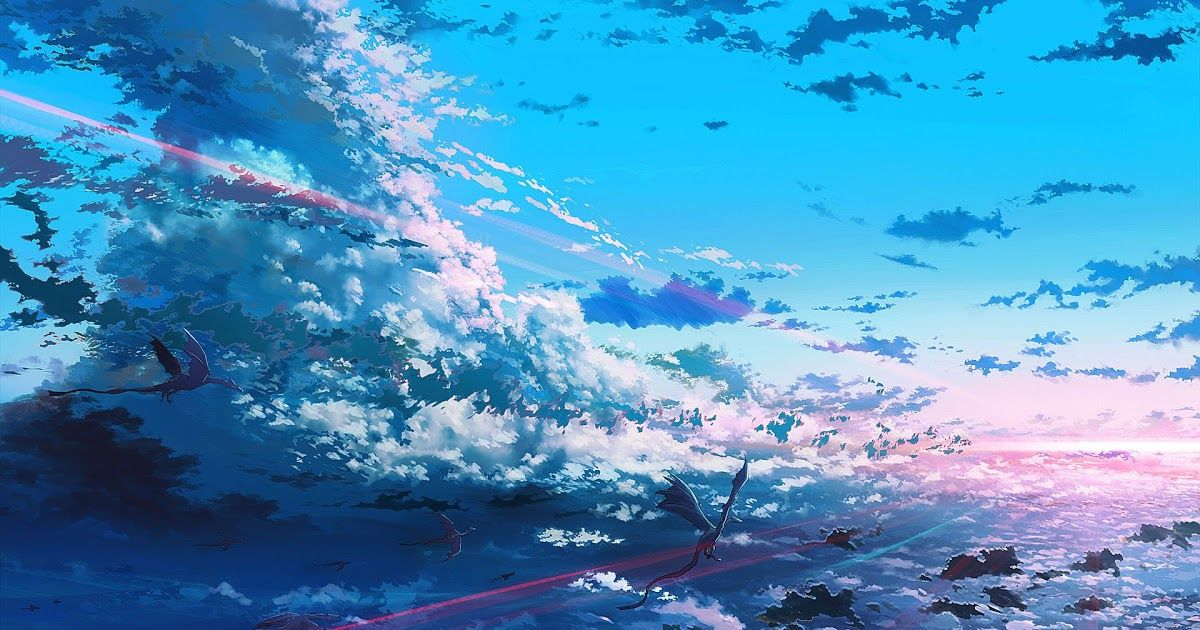 32 Anime Art Wallpaper Phone Fantasy Art Dragon Sky Anime Digital Art Wallpapers Hd Download Beautiful Anime In 2020 Anime Wallpaper Phone Sky Anime Anime Scenery