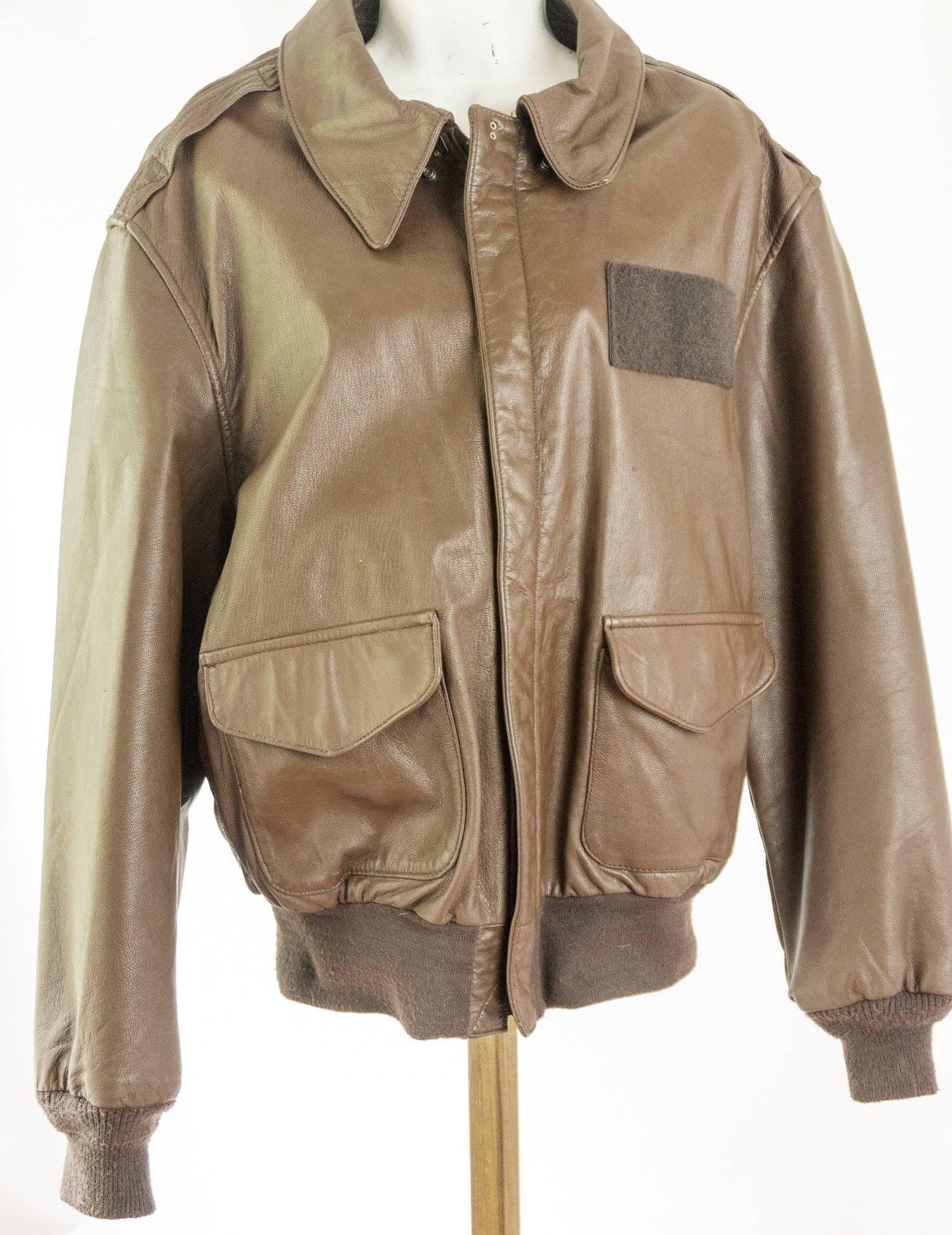 Cooper Flight Jacket Bomber Brown Leather Vintage