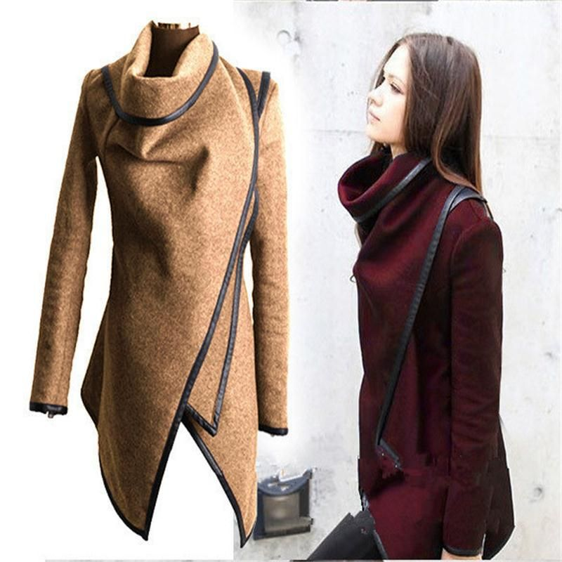 Cheap jacket with fur trim, Buy Quality jacket bag directly from China coat jacket women Suppliers: 	  	Casaco Feminino 2015 New Fashion Women Asymmetric Trench Women Winter Woolen Overcoat Woolen Jacket  Coat