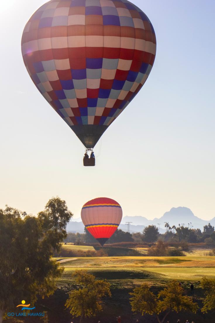 Hot air balloons take to the skies over Lake Havasu City