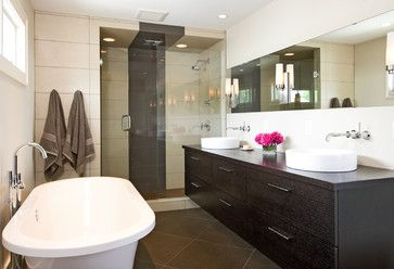 Modern Bathroom - modern - bathroom - minneapolis - w.b. builders