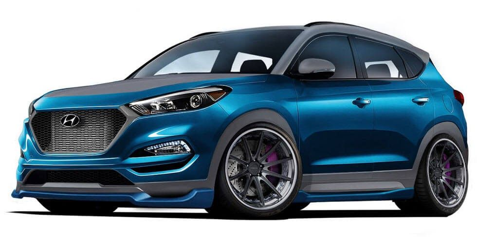 Hyundai And Vaccar Tune Up The Tucson Sport Concept Carscoops Hyundai Cars Hyundai Hyundai Tucson