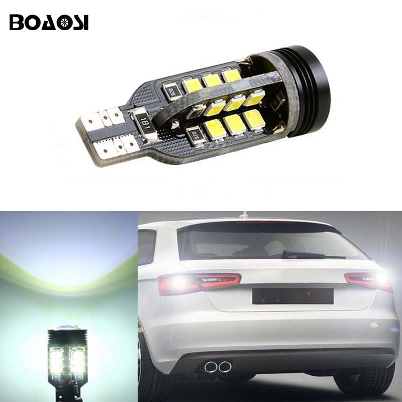 Boaosi 1x Canbus Error Free T15 W16w 921 Car Led Lights Backup