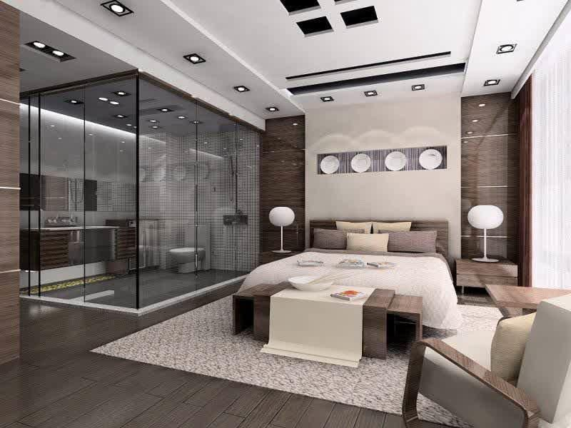 Beautiful Interior Design Modern House Master Bed Room Sealing Images In Full Size