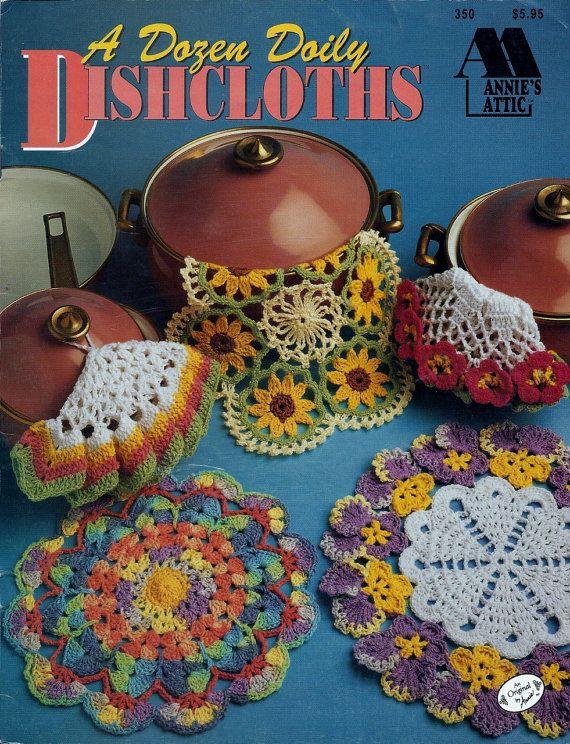 Dishcloth Crochet Pattern  A Dozen Doily Dishcloths  by MsBobbies, $4.95  Own it!