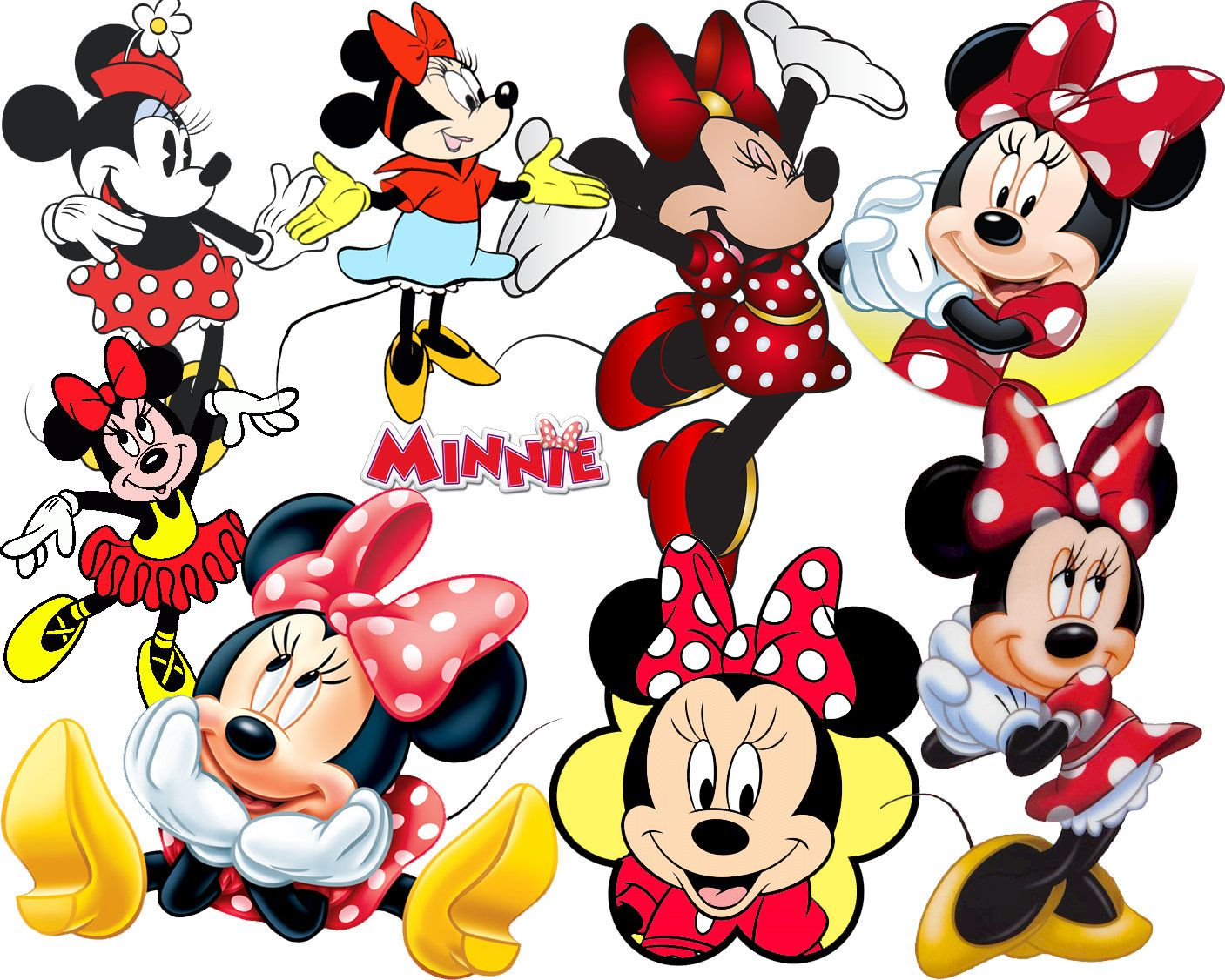 BESTE collectie van 300 Disneys MINNIE MOUSE Clipart 300