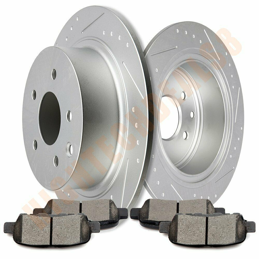 2X Front Brake Discs Rotors and 4X Ceramic Pads For Ford F350 2005 2006-2011